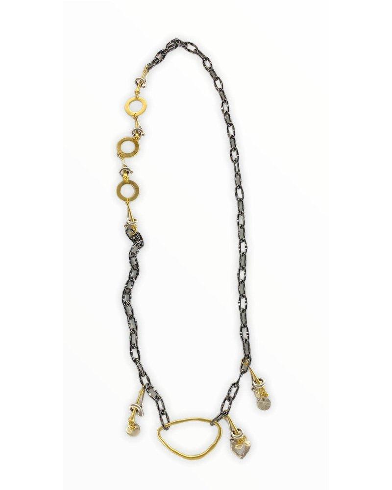 gold & grafito necklace