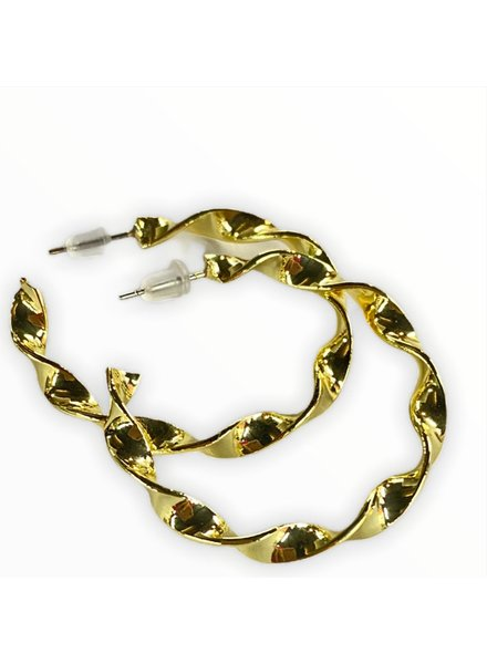 gold large earrings