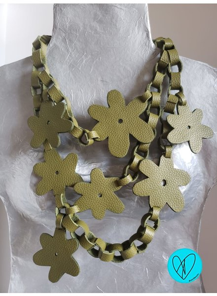 Flower Leather Necklace