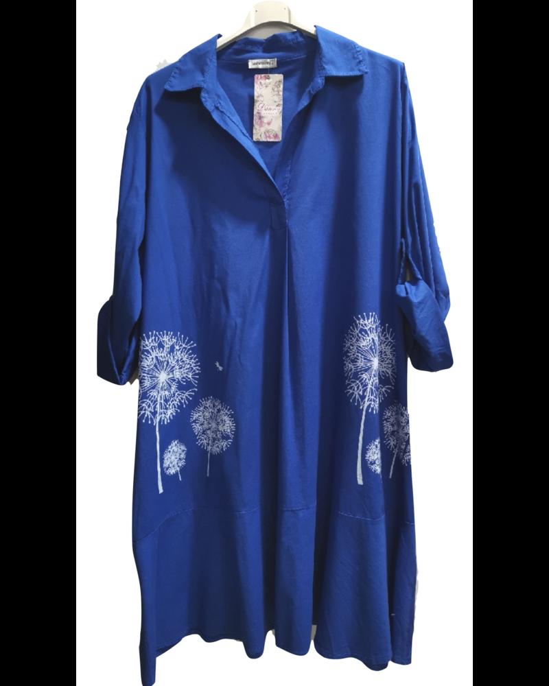 Blue Robe chemise imprimée One size Plus
