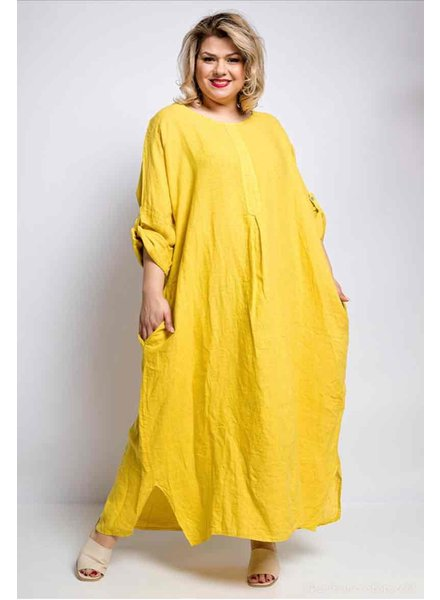 Linen Long Dress Plus One size