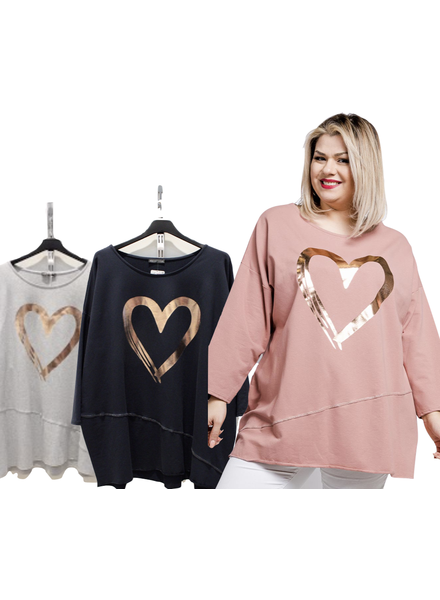 Sweat shirt with Heart