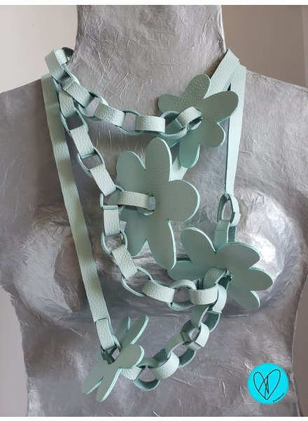 Flower Leather Necklace Acua