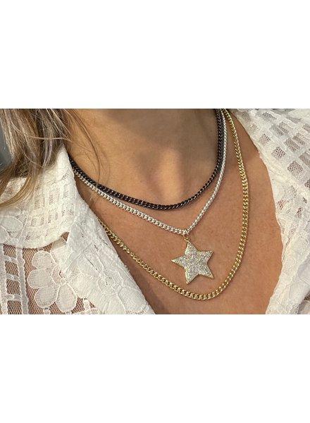 Three Pave Star/ 4 Soles
