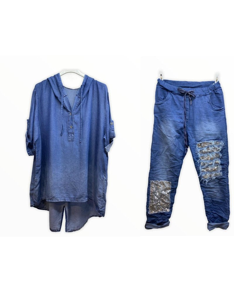 denim shirt one size