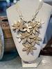 Beige/Gold Flower Necklaces