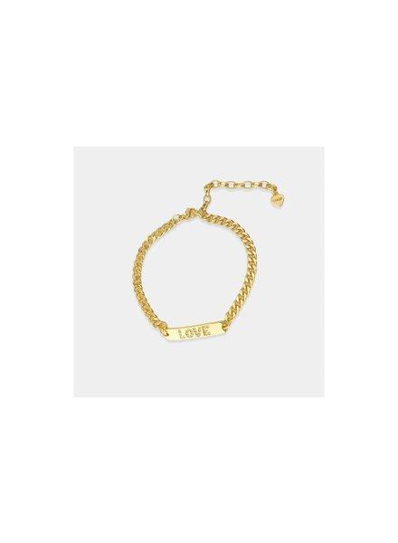 Love Curb Chain Bracelet