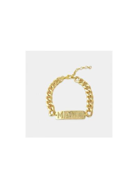 Mama Curb Chain Bracelet
