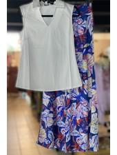 White Rosa Collar Top
