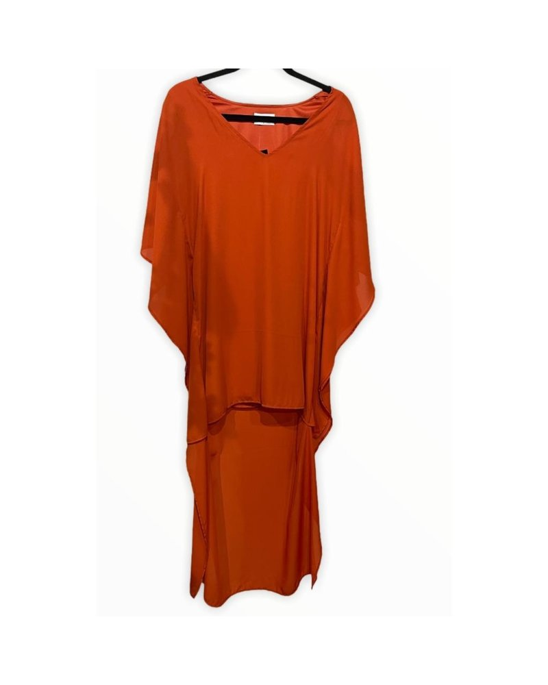 Hi Low Poncho Dress W Lining