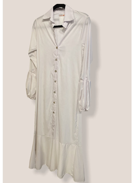 White maxi dress small