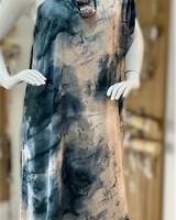 Tie Dye Satin One Shoulder Dress