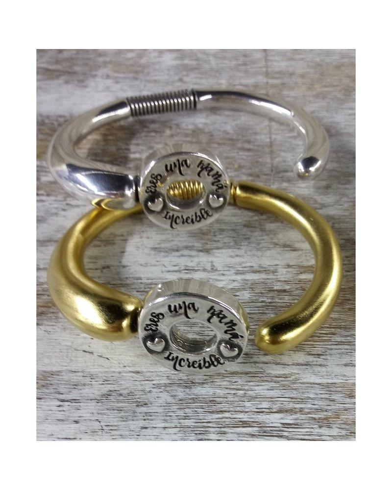 Eres una mamá  increíble 4 soles bracelet