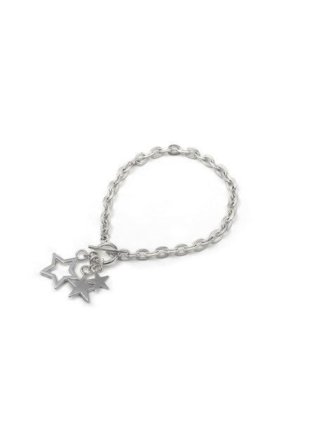 ELASTIC BRACELET LITTLE AND BIG STARS CHARMS