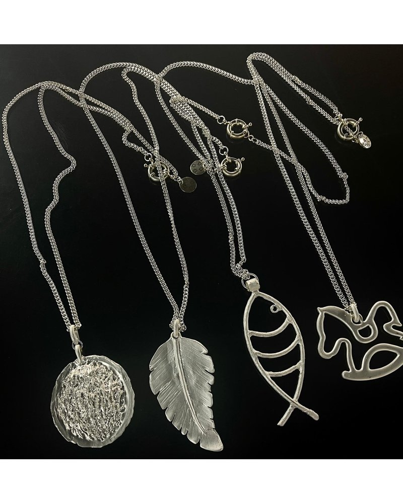 Big Charmm Long Necklace by 4 Soles