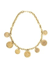 Selina Coin Necklace  22k Gold plated