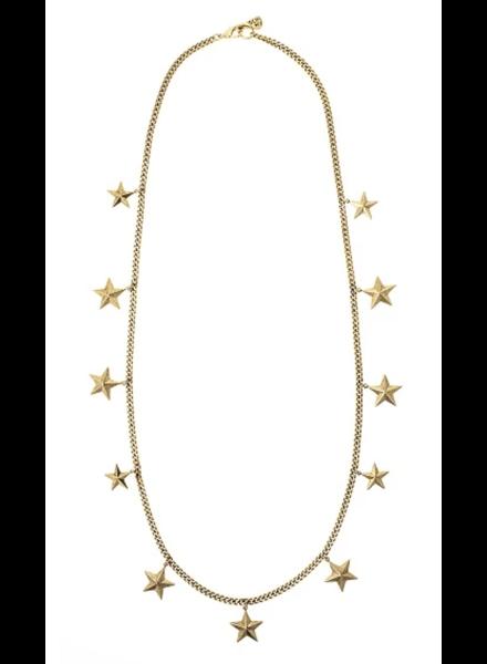 Mauna star long Necklace 22k