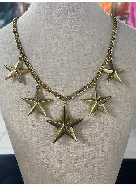 5 Star necklace 22k