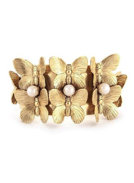 Lizana Bracelet  22k Butterflies