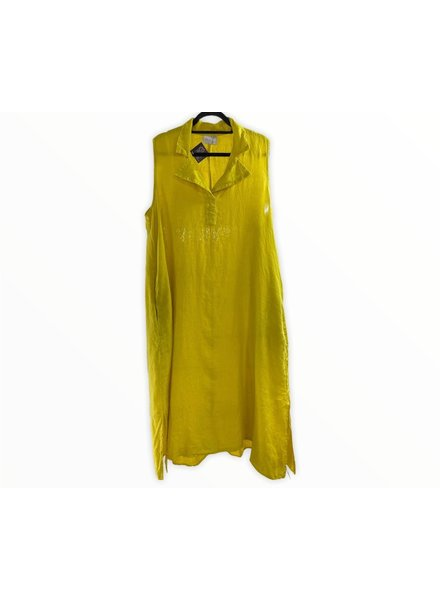 Collared Maxi Dress Yellow