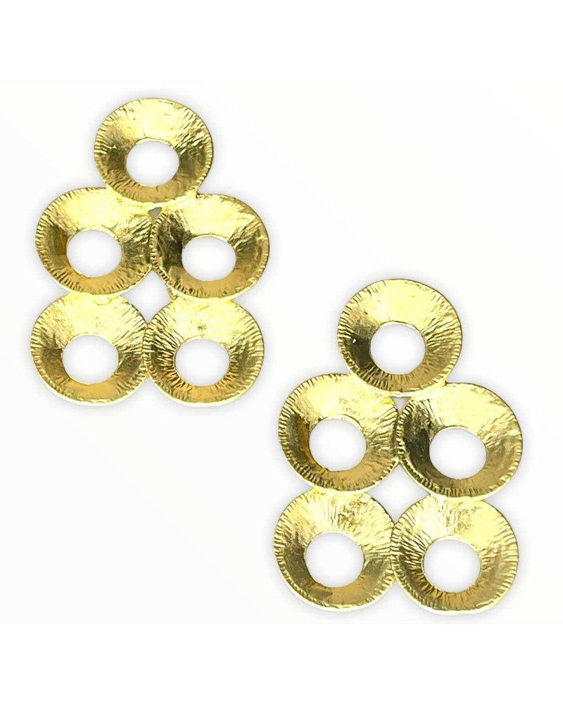 Circle Gold Earrings