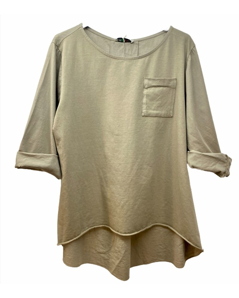 Cotton Basic Taupe Top One Size