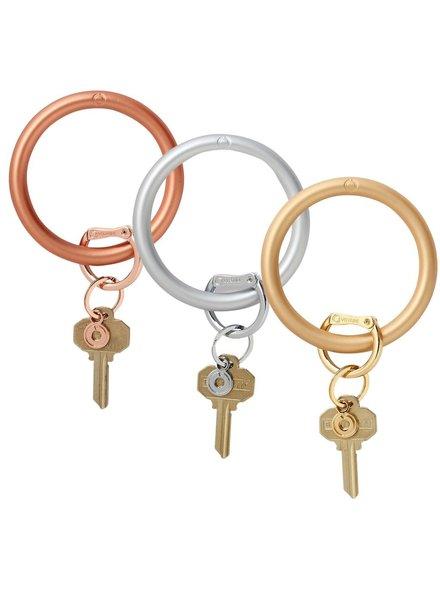 Metallic Collection - Silicone Big O® Key Ring