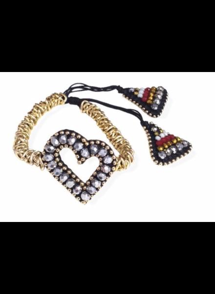 Heart Hand made Bracelet