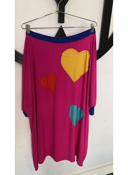 Multi Heart Tunic Dress by Omdaya