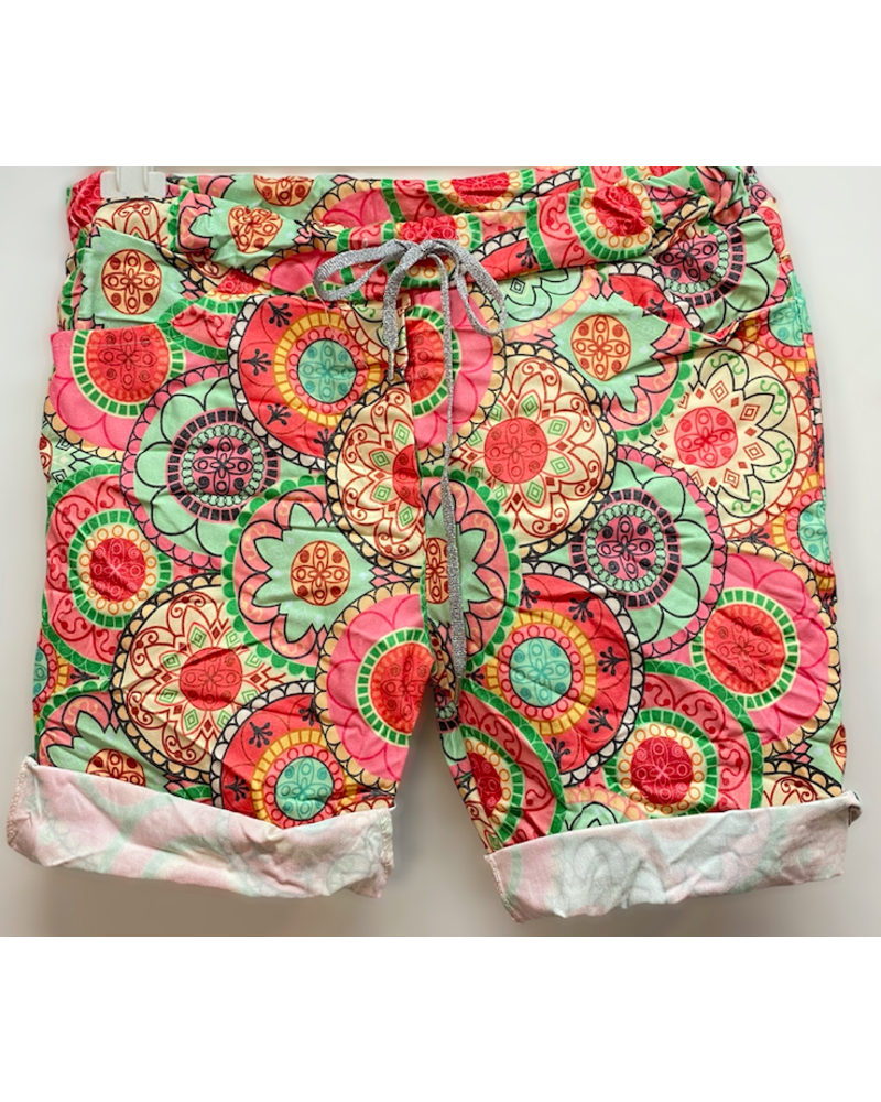 Colorful Mid Thigh Jogger One Size