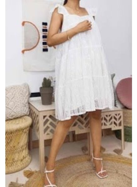 Lace White Dress One Size