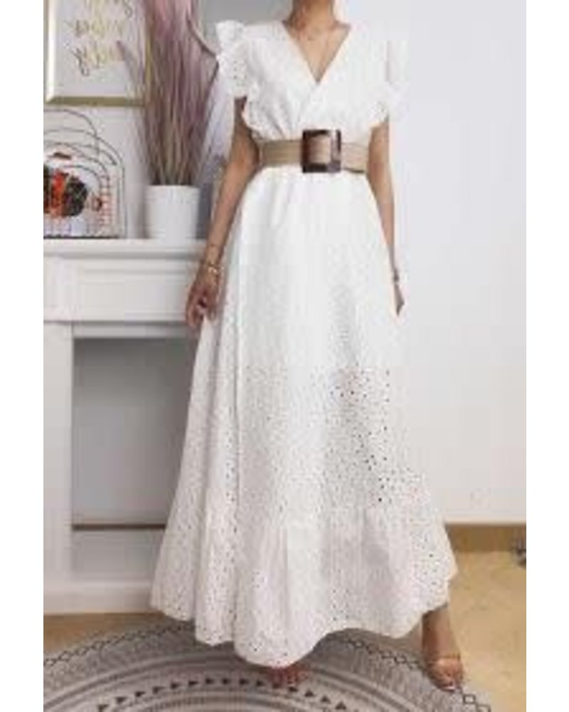 Cross Front Lace   Maxi Dress One size
