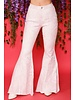 High Waisted Snake Print Bell Bottom Jeans