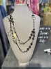 Charcoal Gray Beads Necklace