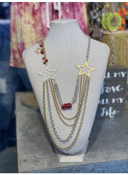 Layers Star Necklace