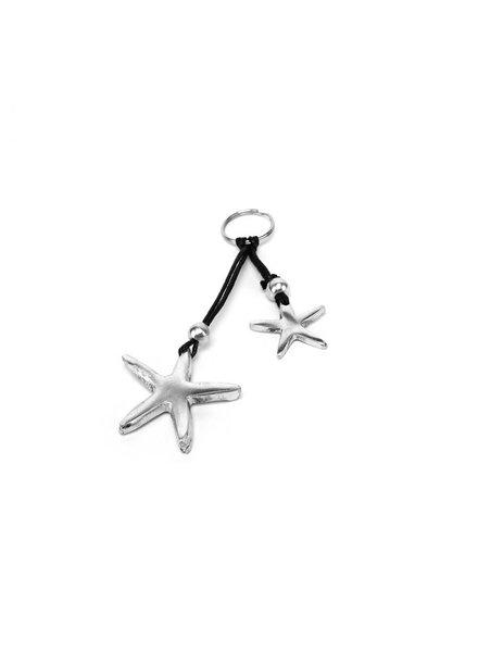 Material: 100% recycled aluminium. nickel tested jewelry. Keychain aluminium 100% recycled 2 heart pendants