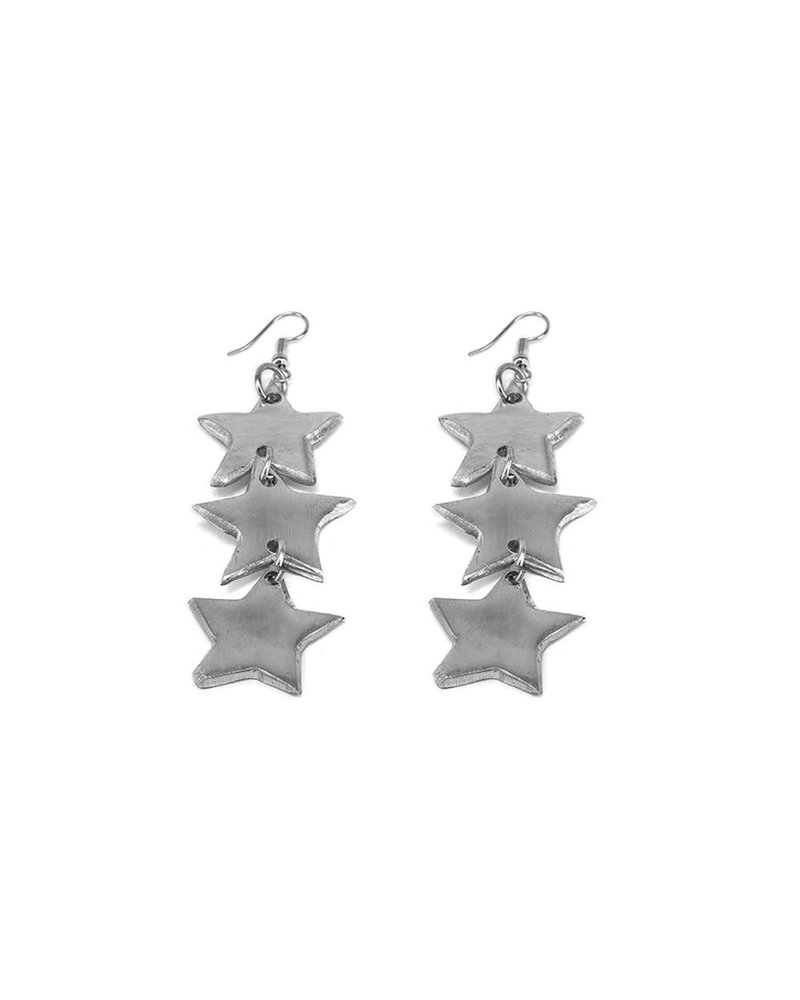 al17319 EARRINGS 3 STARS