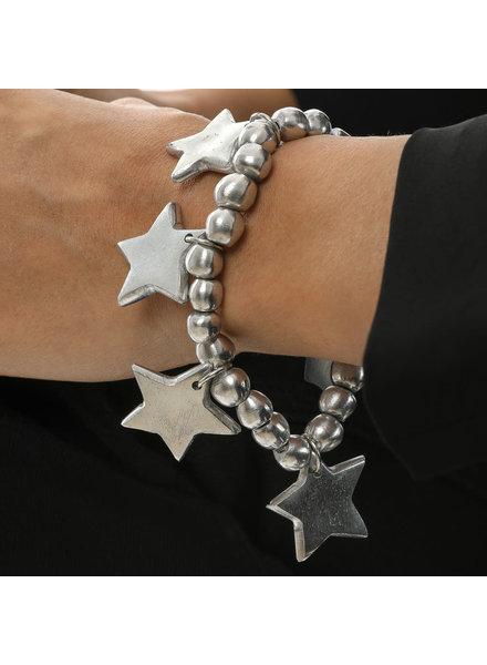 al01127 BRACELET ELASTIC BOULES 6 STARS