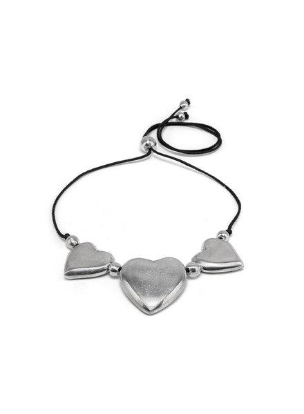 NECKLACE SHORT 3 DOOMED HEARTS