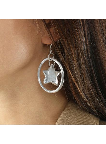 AL17336 - EARRINGS CERCLE A/ETOILE