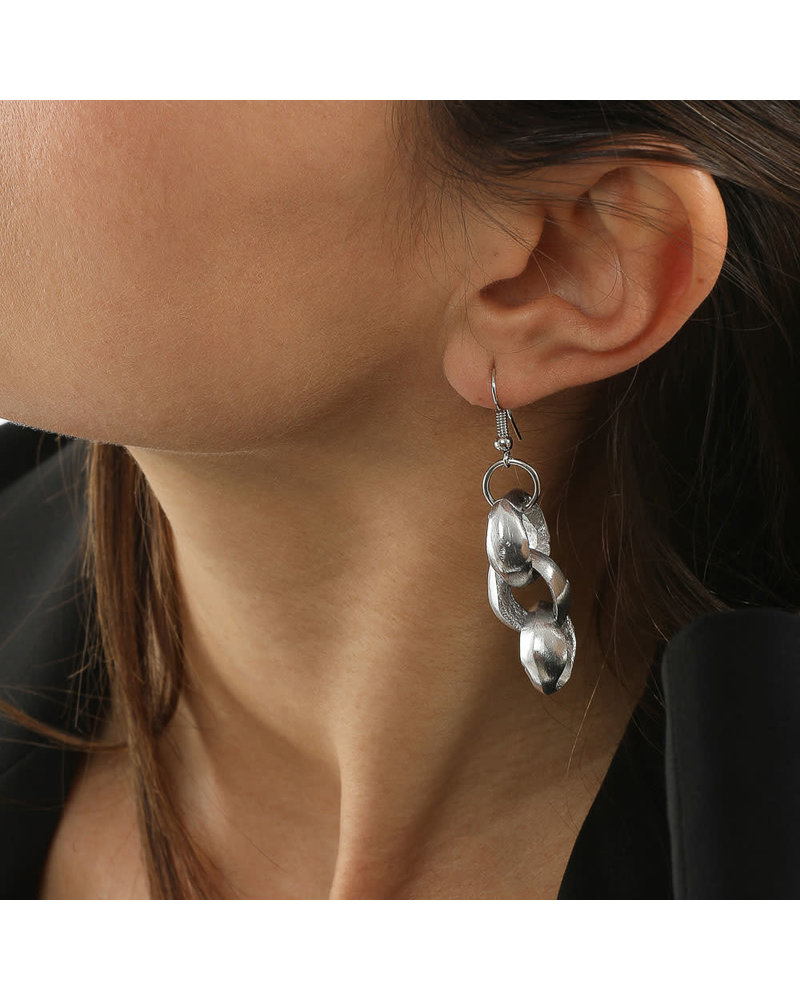 AL17339 - EARRINGS 3 RONDE CHAINE SERRE'
