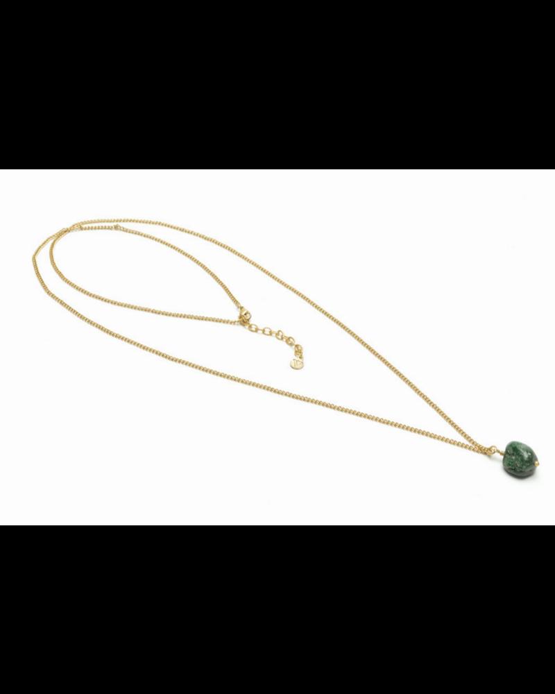 catenina lunga Agatha verde