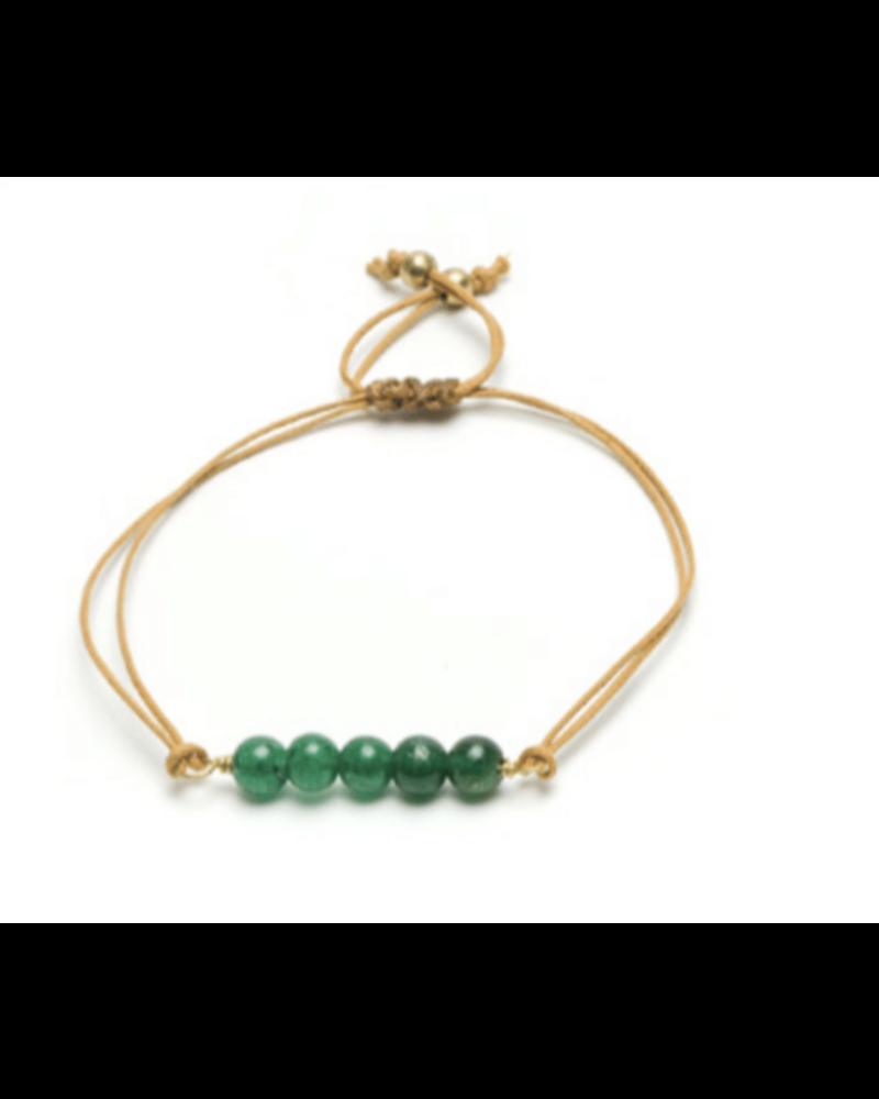 Brazalete barra agata verde