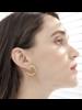 """1"""" Loops earrings Gold"""