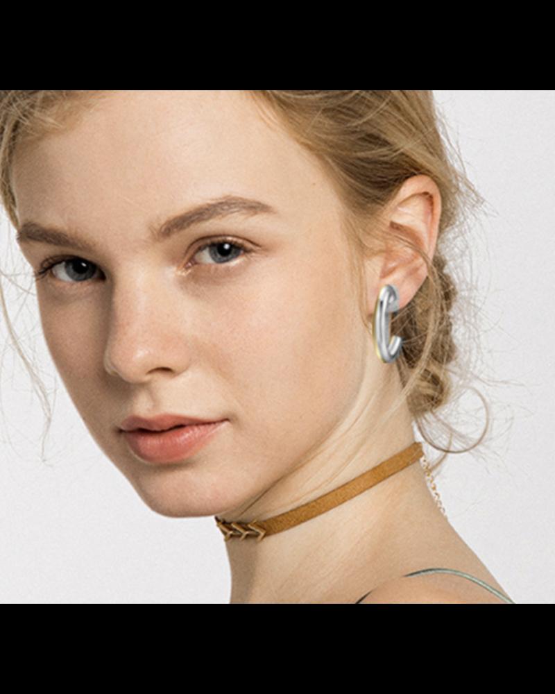 """Copy of 1"""" Loops earrings Gold"""