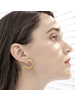 "11/2"" Silver Hoop Earrings f"