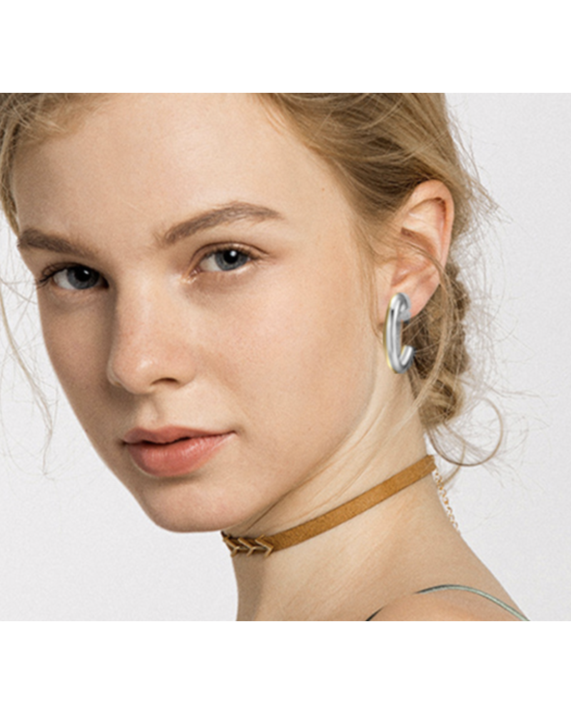"""Copy of 11/2"""" gold Hoop Earrings"""