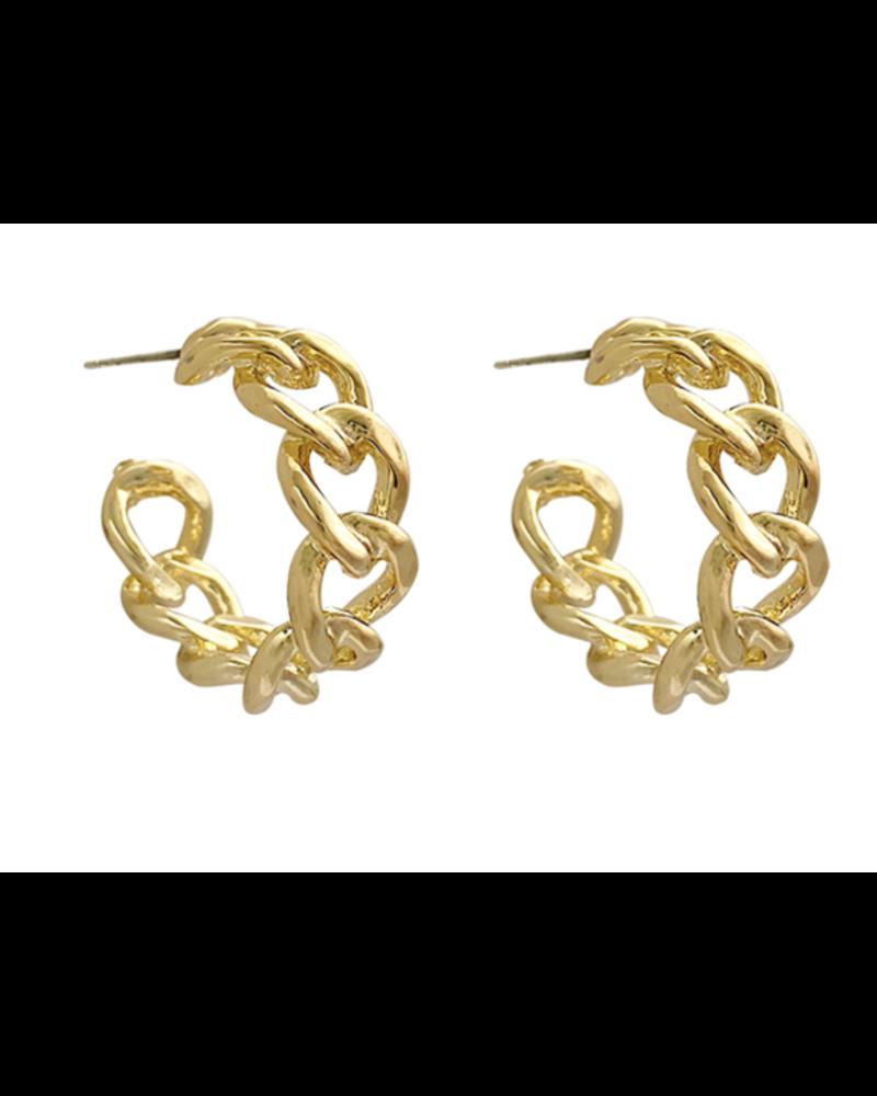 "1"" Chain Hoop Earring"