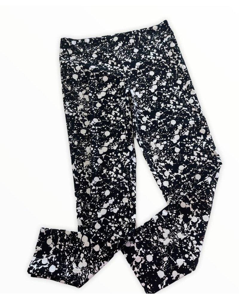 Pull-On Ankle Pants Splatter