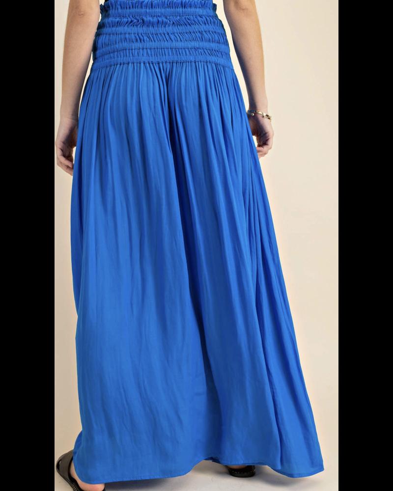 Blue SOFT FABRIC  TUBE DRESS OR MAXI SKIRT